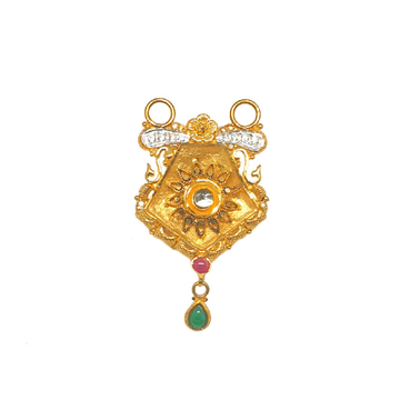 22K Gold Antique Diamond Mangalsutra Pendant MGA - MPG0005