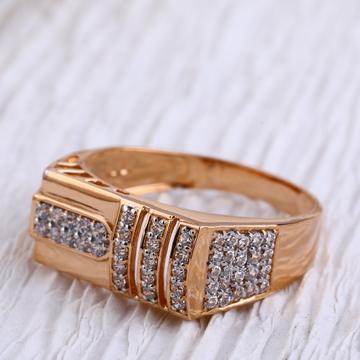 18KT Rose Gold CZ Delicate Mens Ring RMR94