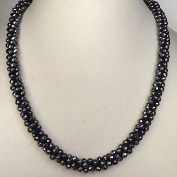 Natural Gunmetal Round Faceted Rope Mala