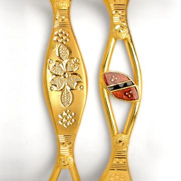 22KT Gold Fancy Indian Design Copper Kadali BO-005