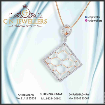PENDENT ROSEGOLD CZ 18CT by