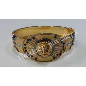 916 Handmade Gold Lion Solid Bracelet