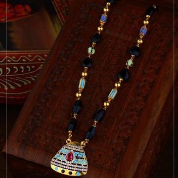 916 Gold antic Rajasthani Mangalsutra RH-GM22
