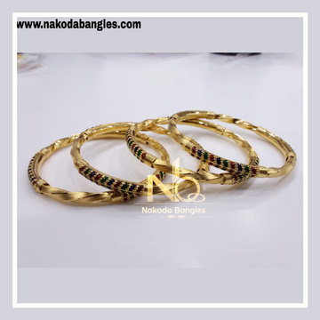 916 Gold Pipe Bangles NB - 835