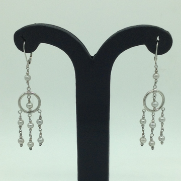 PearlSilverEar HangingsJER0101