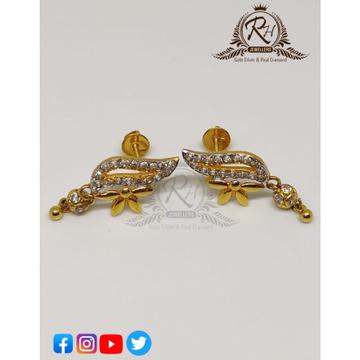 22 carat gold traditional daimond butti RH-ER101