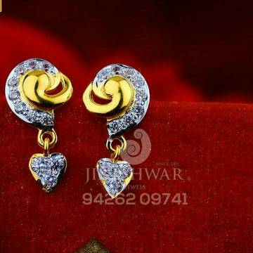 18kt Cz Gold Fancy Beby Tops ATG -0707