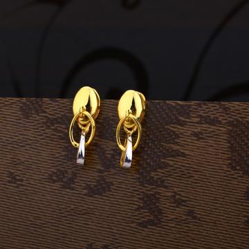 Ladies 916 Gold Fancy CZ Earring -LPE195