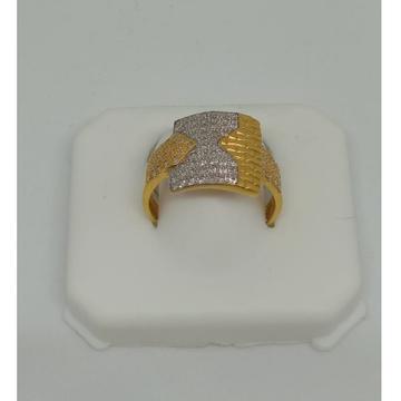 22KT Gold CZ Fancy Ring For Men MJ-R004