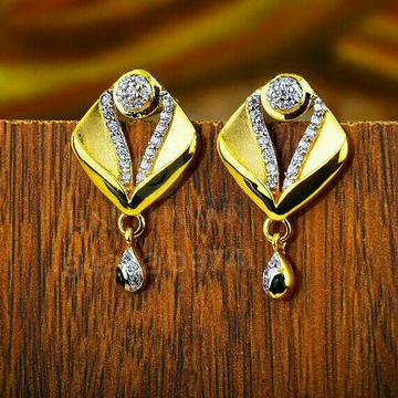 18kt Traditional Were Gold CZ Tops ATG -0094