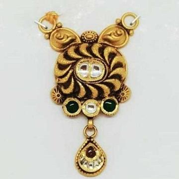 22 KT Gold Oxidised Designer Pendant by