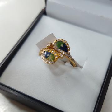 ladies minakari designer ring by Parshwa Jewellers