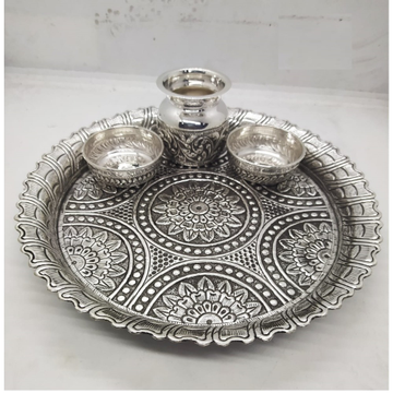 rangoli motifs hallmarked silver in antique finish... by Puran Ornaments