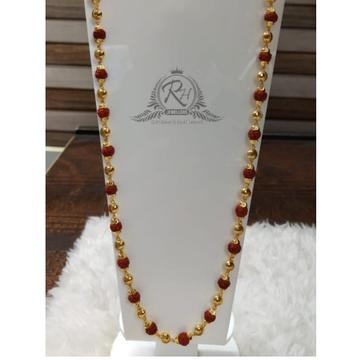 22 carat gold fashionable rudeaksha mala RH-ML132