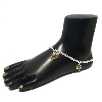 Flower Shape Fancy Silver Anklet Payal MGA - PLS0314