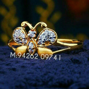 Butterfly Design Cz Fancy Ladies Ring LRG -0106