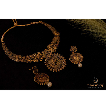 Attractive Necklace Set With Unique Design by Swanky Jewellery