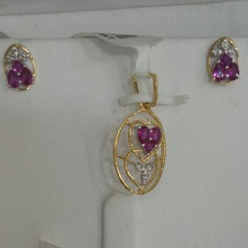 Real Diamond pendant Set by