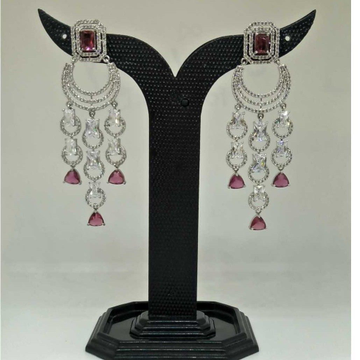 1 gram light red party wear earring