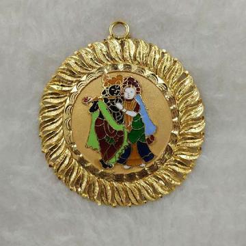 22KT Gold Radha Krishna Designer Pendant