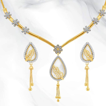 22KT yellow Gold perfect pearl Beads Necklace for Women