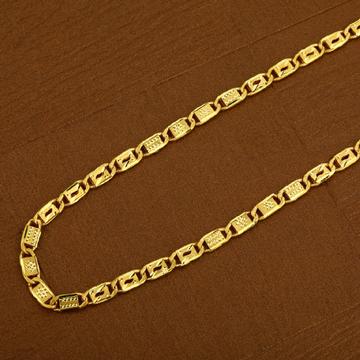 916 Gold Simple Daily Wear Nawabi Mens Chain-MNC17