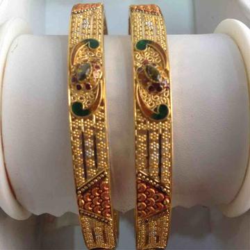 916 Gold Antique Bangles
