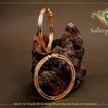 916 Hallmark Daily Wear Gold Bangle  by Saideep Jewels