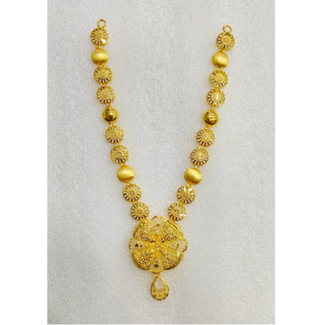 22KT Gold Traditional Design Long Necklace MJ-N004