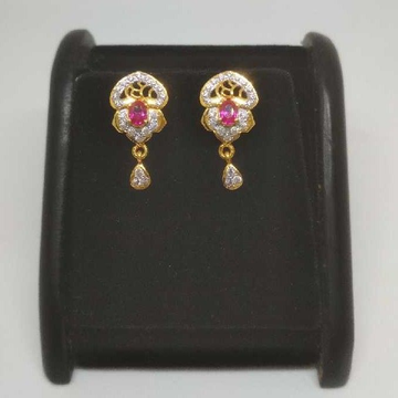 22 K Gold Fancy Earring. NJ-E0929