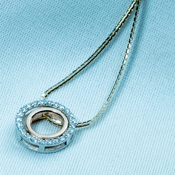 Classic silver pendant chain dk1-238 by