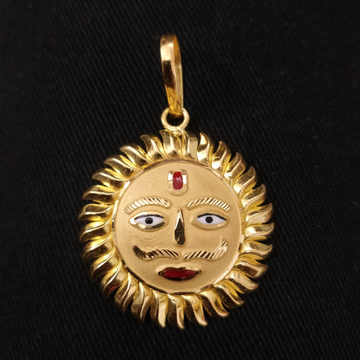 916 Gold Fancy Gent's Surya Pendant