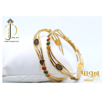 22KT / 916 Gold Zigzag Fancy festival Bangles For... by