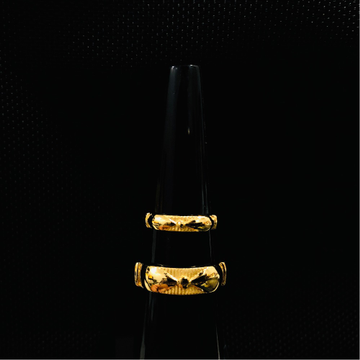916 Gold Stylish Couple Ring KDJ-R040
