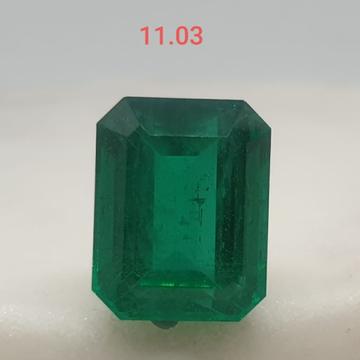 11.03ct square green emerald-panna VG-E01