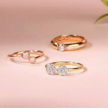 18kt Rose Diamond Ring by
