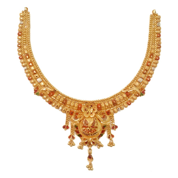 916 Gold Kalkatti Necklace MGA - GN069