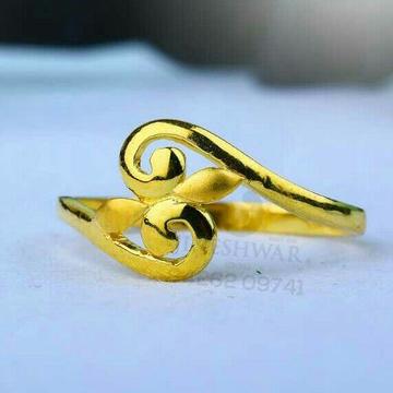 916 Fancy Plain Gold Ladies Ring LRG -0637