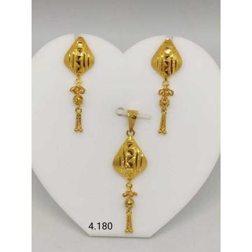 18 K Gold Pendant Set. nj-p01179