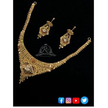 22 carat gold fancy necklace set RH-NS357