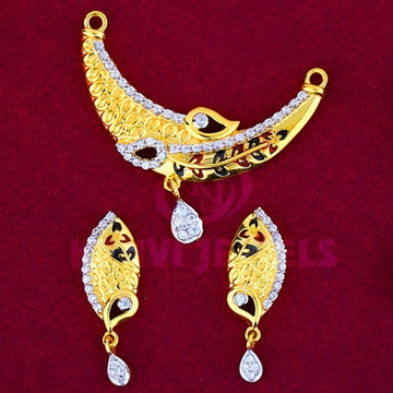 916 Gold Mangalsutra Pendal with Butti MSP-012