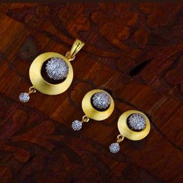 916 gold chain pendantset RH_pset61