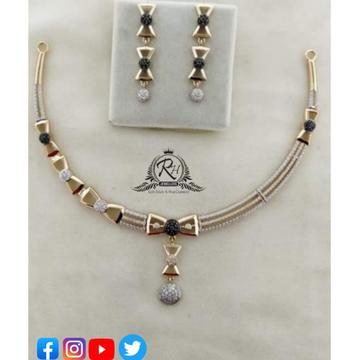22 carat gold classical necklace set RH-NC375