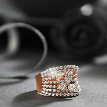 18KT Rose Gold collection engagement ring for ladi... by
