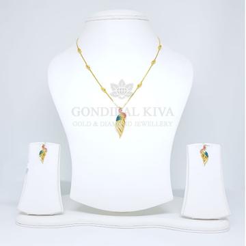 18kt gold pendant set gchp10 - gft24