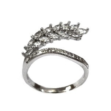 925 Sterling Silver Fancy Petals Shape Ring MGA - LRS1553