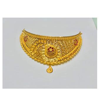 22 Carat gold ladies necklace set  RH-ST208