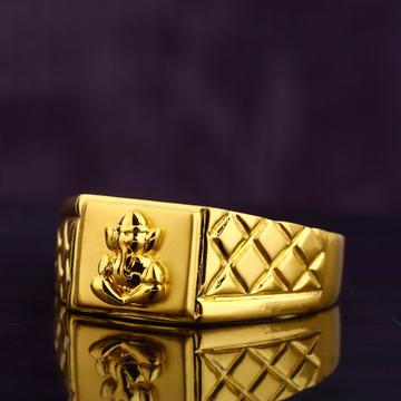 916 Gold Hallmark Designer Men's Ring MGR178