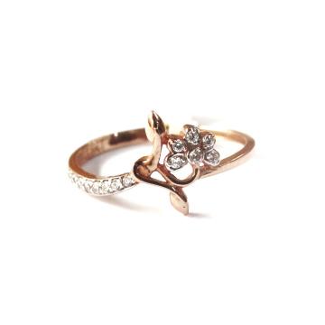 18k rose gold floral ring mga - rgr0013