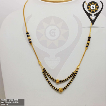 916 CZ Gold 2Layer Mangalsutra  by Parshwa Jewellers